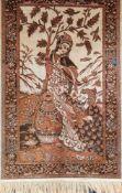 Wandteppich, Japan um 1900, Maschinenarbeit, 110x70 cm