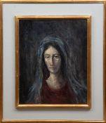 """Porträt einer Frau"", Öl/Lw., undeutl. sign. u.r., 50x40 cm, im Rahmen"