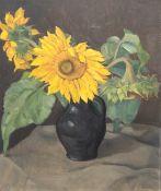 "Venzmer, Erich (1893 Rostock-1975 Schwerin) ""Sonnenblumen"", Öl/Hf., sign. u.r., 63x50 cm,Rahmen ("