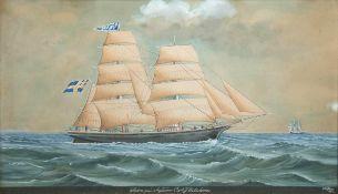 "Sjöström, Lars Petter (1820-1896) ""Kapitänsbild"", Aquarell, sign. u.r. und dat. 1889,mittig bez.,"