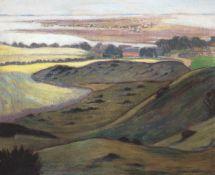 "Metzner, Johanna (19./20. Jh.) ""Blick auf Hiddensee"", Öl/Lw., sign. u.r., 62x73 cm, Rahmen(J.Metzner"