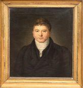 """Barckhan, Johannes Hieronymus (1785-1865) """"Porträt eines Herren"""", Öl/Lw., rückseitig bez.und dat."""