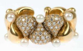 """Chopard-Ring, 750er GG, punziert, aus Kollektion """"Pushkin"""", offene Schiene bestehend"""