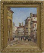 "Junker, Herrmann (1903 Marokko-1985 Hamburg) ""Straßenszene mit Personenstaffage"" wohlWien, Öl/"
