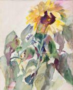 """Behle, Alfred (1935-1997) """"Blumenstilleben mit Sonnenblume"""", Aquarell, sign. u. dat'98. u.l.,"""