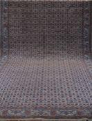 Sarough Mahal, rot-/blaugrundig, mit durchgehendem Muster u. floralen Motiven, Kantenbelaufen, zum