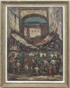 """Kaiser, Walter (1899-1973) """"Italienischer Markt"""", Öl/Mp., rückseitig bez. und sign., 58x44cm,"""