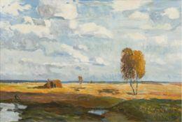"""Monogrammist """"KB"""", wohl Bamberg, Katharina (1873-1966 Stralsund) """"Strandlandschaft mitBoot und"""