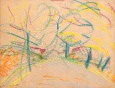 "Malskat, Lothar (1912 Königsberg-1988 Lübeck) ""Abstrakte Landschaft"", Farbkreide/Papier,"