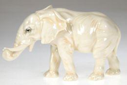 """Porzellanfigur """"Elefant"""", Volkstedt, um 1920, gemarkt ENS für Karl Ens,"""