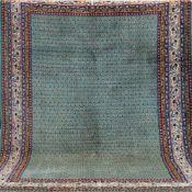 Sarough, mehrfarbig, mit durchgehendem Muster, 1 Kante leicht belaufen, 3 Ecken leichtbeschädigt,