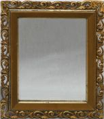 Spiegel, um 1900, Holz/Stuck, vergoldet, Ecken rest., 47x40 cm