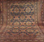 Ersari, Afghanistan, dunkelgrundig mit durchlaufendem Muster u. floralen Motiven, 2