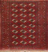 Buchara, Afghanistan, rotgrundig mit durchlaufendem Muster, 165x130 cm