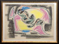 """Siebelist, Walter (1904 Hamburg-1978 Hamburg) """"Abstrakte Farbkomposition"""",Farbkreide/Papier, sign."""