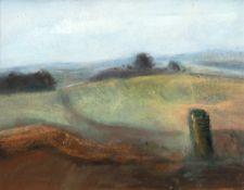 """Rudolf, Adam (1889-1967) """"Rügenlandschaft"""", Öl/Hartfaser, rückseitig, bez. und dat. 1999,24x28 cm,"""