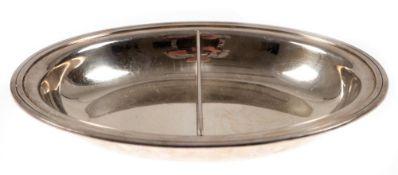 Anbietschale, Tiffany & Co., 925er Silber, punziert, ca. 795 g, ovale Form mit Mittelsteg