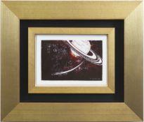 """Meissen-Porzellanbild Stolle, Rudi (1919 Meißen-1996 ebenda) """"Saturn in seiner"""