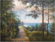 """Kuhnert, Curt (1876 Danzig-1940er Jahre Hamburg) """"Küstenweg zwischen Heiligendamm"""