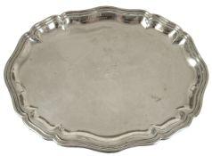 Tablett, 800er Silber, dat. 1919, rücks. Gravur mit den Namen der 26 Landräte Pommerns,u.a. Graf