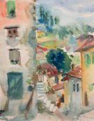 """San Remo"", Aquarell/Papier, undeutl. sign. u.r. und dat. April 1961, 47x34 cm, imPassepartout"