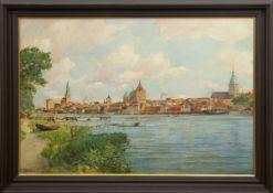 "Blankenburg, Richard (1891 Frankfurt/Oder-1955 Rostock) ""Rostock - Blick vom GehlsdorferUfer"", Öl/"