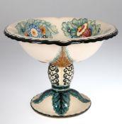 Tafelaufsitz, Karlsruher Keramik, gemarkt, Entwurf Alfred Kusche, Modell-Nr. 1447,polychrome