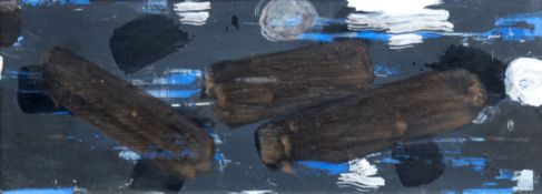 "Siebelist, Walter (1904 Hamburg-1978 Hamburg) ""Abstrakte Komposition"", Öl/Hf., unsign.rücks."