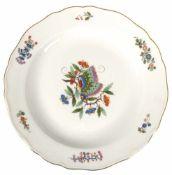 Meissen-Teller, chinesischer Schmetterling, chinesische Malerei, blaue Schwertermarke, 1. Wahl, Dm.