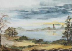 """Schein, Ruth (Nienburger Malerin des 20./21. Jh.) """"Seenlandschaft"""", Aquarell, signiert und datiert"""