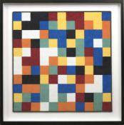 Teppich für Vorwerk, Entwurf Gerhard Richter (1932), siebbedrucktes Polyamidgewebe in versch. Farben