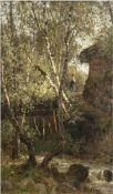 """Begas-Parmentier, Luise (1843 Wien-1920 Berlin) """"Birkenwäldchen bei Paris"""", Öl/Holz, sign. u.l.,"""
