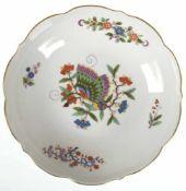 Meissen-Teller, Chinesischer Schmetterling, mit Goldrand, 1. Wahl, Dm. 18 cm
