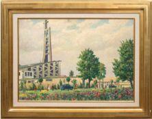 "Sewohl, Waldemar (1887 Wismar-1967 Berlin) ""Pfarrkirche St. Laurentius in Berlin-Mitte"", Öl/HF..,"
