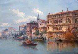 """Carlo, C. (alias Karl Kaufmann (1843 Neuplachowitz-1901 Wien) """"Ansicht von Venedig"""", Öl/Lw., sign."""