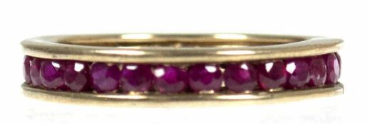 Memory-Ring, 333er GG, Rubine, RG 57, Innendurchmesser 18,1 mm