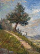 "Felgentreff, Paul (1854 Potsdam-1933 München) ""Gebirgsweg"", Öl/Lw., sign. u.l., 35x27,5 cm,"