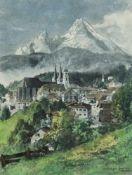 "Compton, Edward Harrison (1881 Feldafing am Starnberger See-1960 ebenda) ""Berchtesgarden"", Farblitho"