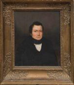 """""""Biedermeier-Porträt eines Herren"""", Öl/Lw., undeutl. sign. u.r. und dat., 27x22 cm, im"""