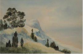 """Wolf, Julius (1909-1969) """"An der Adria bei Pesaro"""", Aquarell, sign., dat. 1952 und bez."""