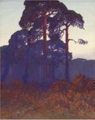 """2 Gemälde von Hellgrewe, Rudolf (1860 Hammerstein - 1935 Berlin) """"Märkische Uferlandschaft"""