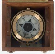 Rettungs-Kompass Cassens & Plath, Type 51, No. 1030, Messing, Flachglaskompass mit