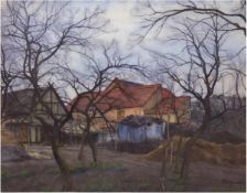 """Bremer, Hans (1885 Berlin-1959 Berlin) """"Bauernhof in der Mark - Blankensee bei Trebbin"""","""