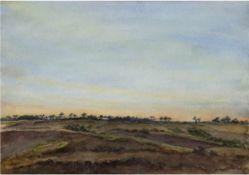 "Daerr, Joachim (1909-1985) ""Landschaft auf Rügen"", Aquarell, sign. u.l., 41,5x56 cm (Daerr"