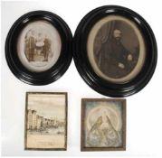 """4 Rahmen, davon 2x mit Fotografie """"Geschwister Schmiedell"""" u. """"Heinrich de Clüver"""" ovaler"""