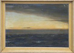 "Rave, Christopher (1881 Hamburg-1939 ebenda) ""Sonnenuntergang"", Öl/Holz, sign. u.l., kl."