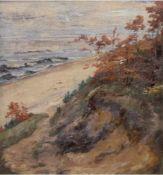 """Büchsel, Elisabeth (1867 Stralsund-1957 ebenda) """"Steilküste"""", um 1900, Öl/Lw., sign. u.r."""