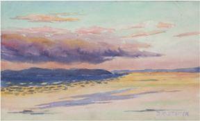 """Koch-Stetter, Dora (1881 Bayreuth-1968 Ahrenshoop-Althagen) """"Strand"""", Aquarell/Papier,sign. u"""
