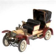 Firma Schuco, Mercedes-1229 Simplex 32 PS, Modell 1902, Metal/Kunststoffl, beige/dunkelrotlac