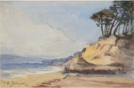 """Büchsel, Elisabeth (1867-1957 Stralsund) """"Steilküste"""", Aquarell/Papier, sign. u.l. unddat."""